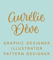 Création de la charte graphique du site par Aurélie Dève